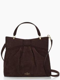 Mattie Street Amelie In Worm Putty Or Black Bow Bag Kate Spade Handbags