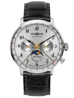 Zeppelin Mens Watch with Moonphase