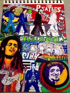 Tribute to the Legends of Rock by Neethi Abraham, via Behance