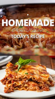My best lasagna recipe uses bechamel sauce, beef bolognese and sausage for authentic Italian flavor! Make it for dinner or a holiday meal!