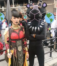 Expanding the marvel universe by adding another super hero - Black Panther?s lost cousin Pink Panther who has lived in Paris all his life & DC Marvel Cosplay, Joker Cosplay, Cosplay Make-up, Cosplay Outfits, Funny Cosplay, Cosplay Style, Halloween Cosplay, Anime Cosplay, Marvel Comics