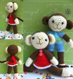 Monkey Crochet Free Amigurumi