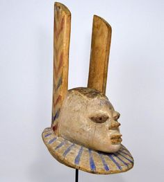 A Beautiful Old Yoruba Egungun Ceremonial Mask ~ African Art #yorubaartisan