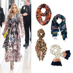 Scarves are great for fall layering. Olivia Palermo is a street style trend setter with this layered look. #scarves #falltrends #streetstyle #fashion