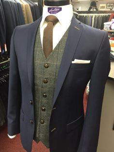 tweed waistcoat navy suit - Google Search