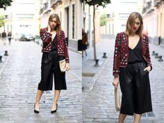 Amy R. - Leather culottes