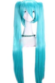 100-105cm Blue Long Straight Hatsune Miku Vocaloid Cosplay Hair Wig Rw78