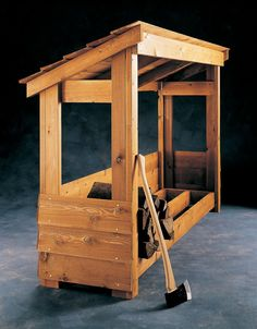 Build a Firewood Shelter More
