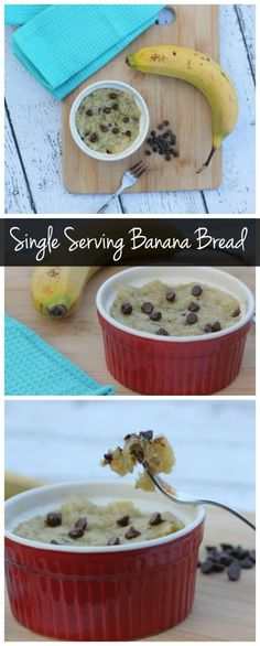 This single serving banana bread recipe only requires a few ingredients and it can be made in minutes! It's also vegan, healthy, & low calorie!