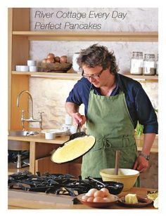 River Cottage Pancake Day - Booked you an afternoon with Hugh. have fun and save us some pancakes :o) Gordon Ramsay, Jamie Oliver, Veggie Recipes, Cooking Recipes, Hugh Fearnley Whittingstall, River Cottage, Pancake Day, Prep Kitchen, Cookery Books