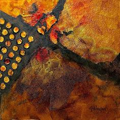 """CAROL NELSON FINE ART BLOG-Geological Abstract Art Painting """"Ignition Point 2 """" by Colorado Mixed Media Artist Carol Nelson http://carolnelsonfineart.com/workszoom/1477917"""