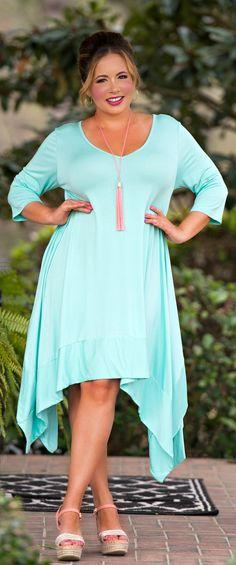 "Oh ""Hoppy"" Days Ahead Dress - Mint - Perfectly Priscilla Boutique"