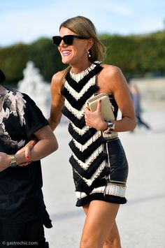 Cocktail Dress Inspiration: Anna Dello Russo in Balmain