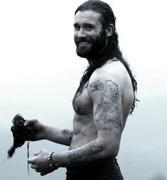 Rollo from History Channel's Vikings. Ok, honestly, I try NOT to pin Rollo too much, because he is a fictional Viking, but the gods are not with me in this struggle. ;-)