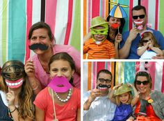 Silly photo booth with props! Awesome fun idea!!!