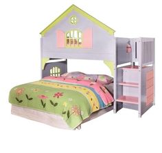 Doll House Painted Loft Bed For Little Girls Painted