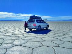 Our jeep in the Salar