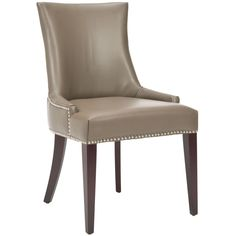 Safavieh Becca Grey Leather Dining Chair | Overstock.com Shopping - The Best Deals on Dining Chairs