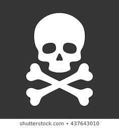 svg Letters Halloween Halloween Clipart Bones Instant Download SVG Skull and Crossbones SKULL /& CROSSBONES October clipart