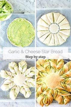 Just when you thought garlic bread couldn't be improved I bring you my star cheese garlic bread. It's everything you love about homemade garlic bread, except I've thrown in fresh herbs and oozy cheese. via ThermoKitchen Homemade Garlic Bread, Garlic Cheese Bread, Homemade Breads, Art Du Pain, Thermomix Bread, Star Bread, Bread Art, Bread Head, Bread Shaping