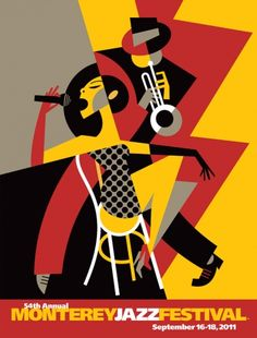 Pablo did the illustration for the poster of The Monterey Jazz Festival for third year in a row.