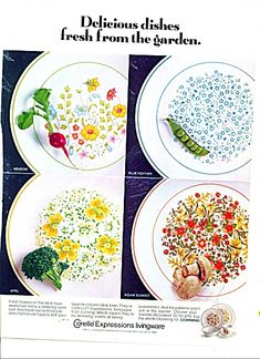 Corning Centura APRIL TULIP MULTICOLOR  Fruit//Dessert Bowls 4 3//4 inches