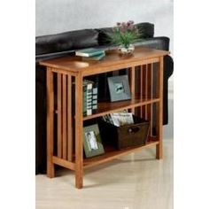 Home Decorators Collection Mission-Style Sofa Console Table Without Drawers 36'w Brown