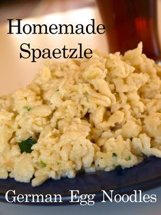Learn how to make homemade spaetzle (German egg noodles) with this recipe and photo tutorial. Egg Noodle Recipes, Pasta Recipes, Cooking Recipes, Recipes With Egg Noodles, How To Make Spaetzle, Spaetzle Recipe, Hungarian Recipes, German Recipes, Slovak Recipes