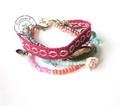 Friendship bracelet pink dreams www.leidesign.nl