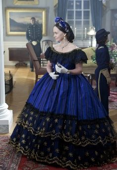 """Sally Field as Mary Todd Lincoln, in """"Lincoln"""". This was her gown for the Grand Reception."""