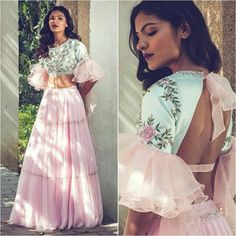 Organza Fancy Blouse LEHENGA Choli Indian Dress Blouse Ghaghra Choli Bridal Gift Party Wedding Wear With Embroidery Work Lengha Choli Blouse Lehenga, Lehnga Dress, Lehenga Choli, Anarkali, Pink Lehenga, Lehenga And Crop Top, Peach Saree, Net Lehenga, Sari Blouse Designs