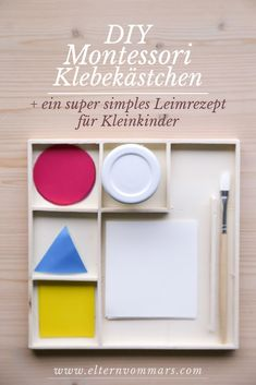 Mit einem super simplen, ungiftigen Leimrezept You are in the right place about Montessori Materials sensorial Here we offer you the most beautiful pictures about the Montessori Materials winter you a Crafts For Boys, Toddler Crafts, Toys For Girls, Toddler Toys, Diy For Kids, Toddler Art, Montessori Baby, Montessori Elementary, Diy Bebe