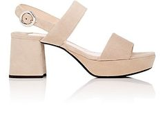 We Adore: The Suede Double-Band Platform Sandals from Prada at Barneys New York