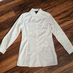 Moda International Tops - Long, tunic-style button up VS Blouse