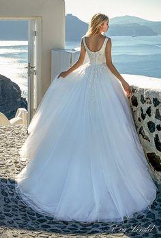eva lendel 2017 bridal cap sleeves bateau neckline heavily embellished bodice romantic a  line wedding dress mid scoop back sweep train (thaiya) bv