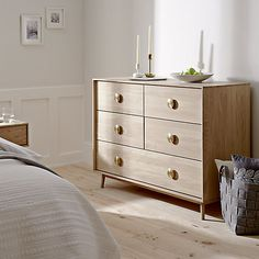 Offering both form and function, this Scandi style chest is full of modern charm.