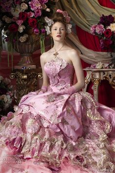 pink wedding dress 2011 stella de libero
