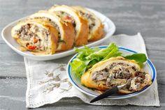 Sienimunakasrulla ✦ Munakasrulla on retroruokaa parhaimmillaan. Tarjoa salaatin kanssa. http://www.valio.fi/reseptit/sienimunakasrulla/