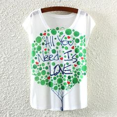 Summer Style Ink Painting Horse Pattern Print T-Shirt