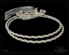 Glass Pearls Stefana Crowns for your Greek Orthodox Wedding Including Crown Case, Code 327G Orthodox Wedding, Wedding Wreaths, Greek Wedding, Together We Can, Ribbon Colors, Just For You, Pure Products, Pearls, Elegant