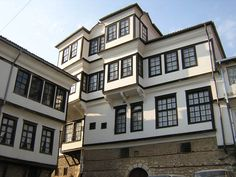 Robevci house, traditional macedonian architecture, Ohrid, Macedonia..