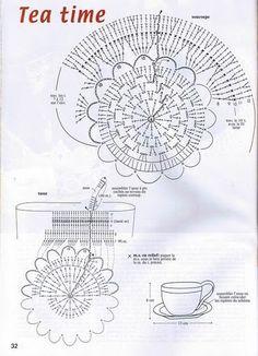 ru / Фото 32 - 1000 Mailles Nomero special hors-serie Miniatures et . Crochet Kitchen, Crochet Home, Crochet Crafts, Easy Crochet, Crochet Projects, Free Crochet, Diy Crafts, Crochet Diagram, Crochet Motif