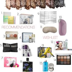 Sephora VIB 20% Off Sale Recommendations & Wishlist #sephora #sephoravibsale #sephorasale #sephoravibrougesale