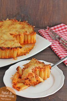Pastel de macarrones, ¡una receta de pasta original!