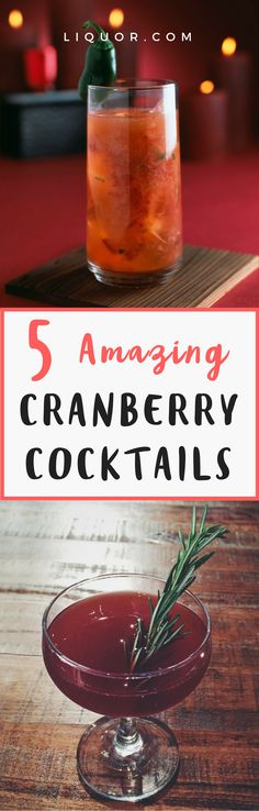 The colder weather and holiday season means #cranberry season is upon us! Here's how to make the most of the winter fruit in all its forms. These 5 seasonal #cocktails will carry you all the way to warmer days!