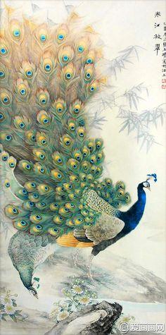 Meticuloso imagens do pavão, tapeçarias decoração para casa material de pintura do pavão, imagens do pavão pintura decorativa Daquan HD