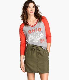 H&M Baseball Shirt $17.95