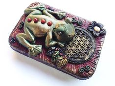 Stunning Kambo Flower of Life One of a Kind Survival Kit Sacred Medicine Tin. Handmade Of a Kind Mapacho Box, Shaman Tools cigerette My Favorite Part, My Favorite Things, Unique Gifts, Best Gifts, Metal Containers, Red Jasper, Flower Of Life, Have Some Fun, Colour Schemes
