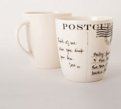 Postcard Mug - moving my post card collection to daily life
