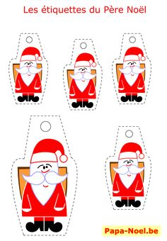 1000 images about pere noel on pinterest noel paper - Bricolage de noel a imprimer ...